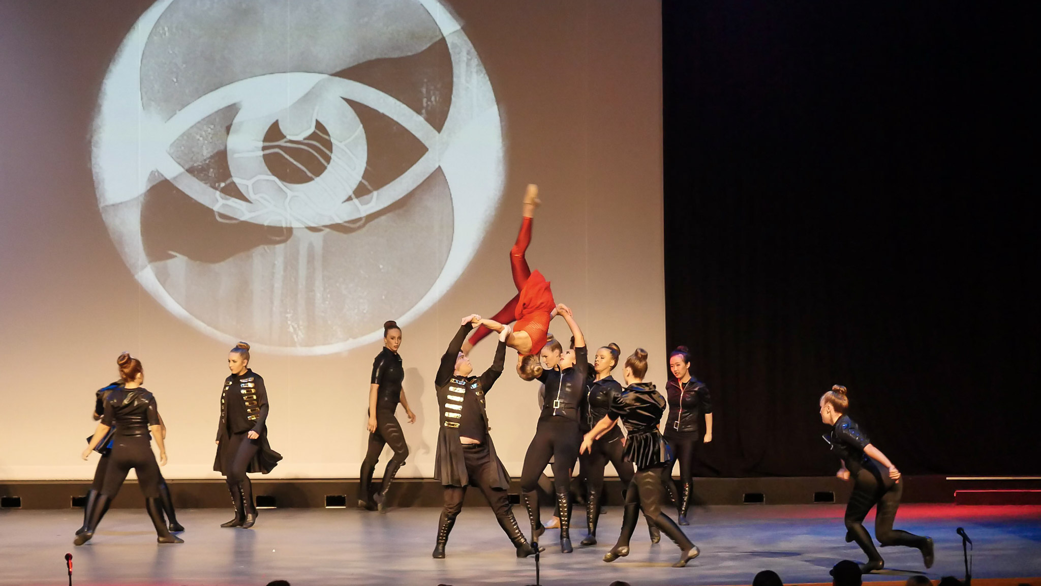Divergent Dance Team Performing an Arial